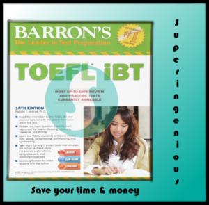 Barron's TOEFL iBT the 15th Edition (PDF+Audio)