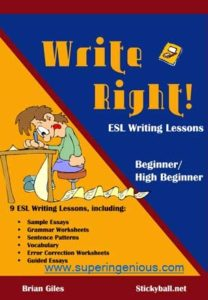 write right ESL writing lessons