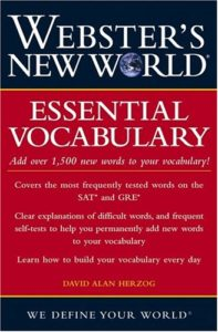 Webster's New World Essential Vocabulary for SAT and GRE