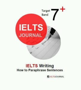 IELTS Writing How to paraphrase sentences