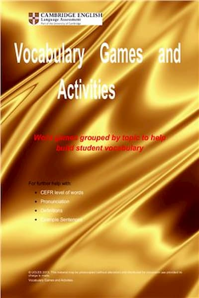 ‎Brown Chris. Vocabulary Games and Activities