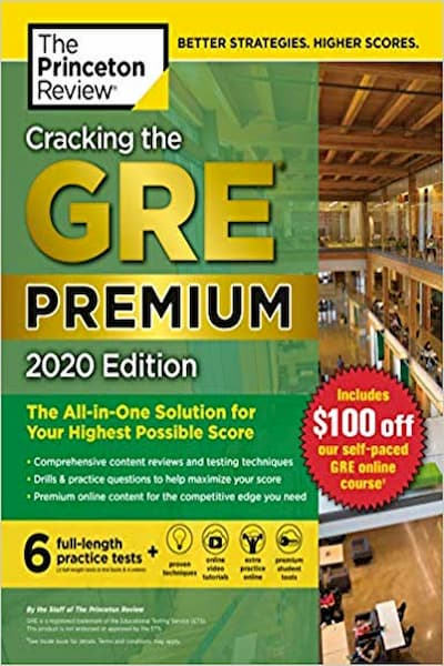 Cracking the GRE Premium Edition 2020