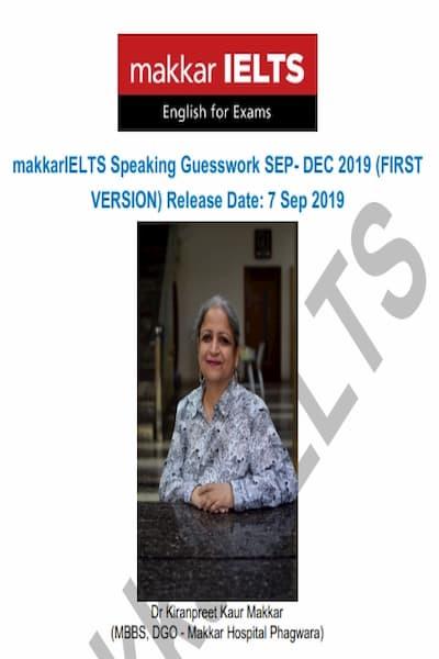 Makkar IELTS speaking guesswork sep-dec 2019 PDF