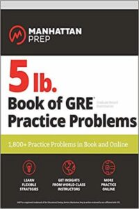 5 Lb. Book of Gre Practice Problems 2019