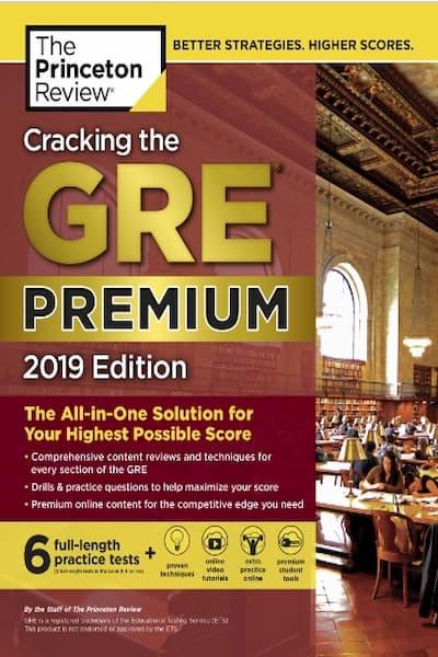 Cracking the GRE Premium Edition 2019