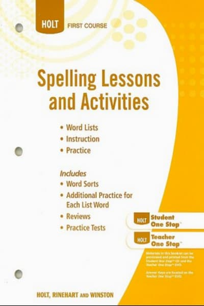 Spelling Lessons and Activities (PDF)