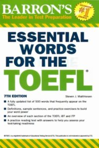BARRON'S Essential Words for the TOEFL 7th