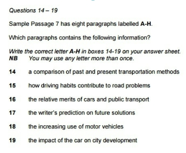 IELTS 14 Reading Questions Types-2
