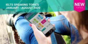 IELTS Speaking Actual Tests Topics 2020