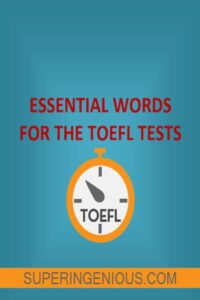 Essential Words for the TOEFL Tests