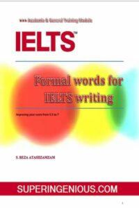 IELTS Writing Formal Words