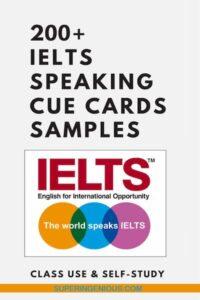 IELTS Speaking Cue Cards Samples
